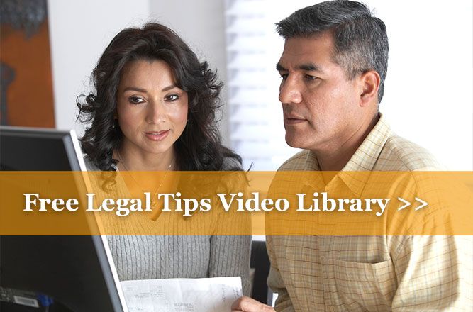 Free Legal Tips Video Library from DexterLaw
